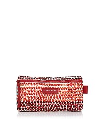 Longchamp Le Pliage Neo Polka Dot Cosmetic Case Burnt Red