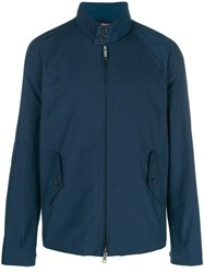 Engineered Garments Mock Neck Zip Front Jacket Blue