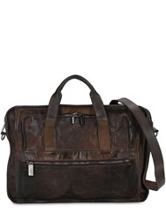 Numero 10 Office Leather Crossbody Bag Brown