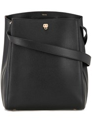Valextra Structured Shoulder Bag Black
