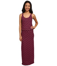 Carve Designs Anderson Maxi Dress Plum Riveria Women's Dress Red