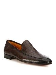 Saks Fifth Avenue Croc Printed Leather Venetian Loafers
