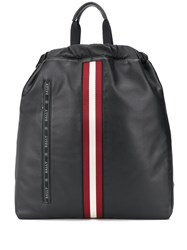 Bally Stripe Detail Embroidered Logo Backpack 60