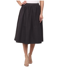 Michael Stars Cotton Poplin A Line Skirt Oxide Women's Skirt Blue