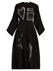 J.W.Anderson Heart And Square Applique Dress Black