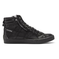 Diesel Black D String Plus High Top Sneakers