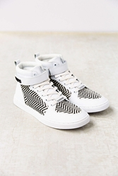 Eleven Paris Raf High Top Sneaker Black And White