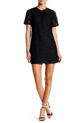 Romeo And Juliet Couture Short Sleeve Lace Tunic Black