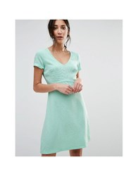 Traffic People Short Sleeve Dress Green