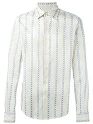 Romeo Gigli Vintage Pinstriped Shirt Nude And Neutrals