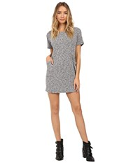 Culture Phit Kalani Short Sleeve Pocketed Ribbed Dress Heather Grey Women's Dress Gray