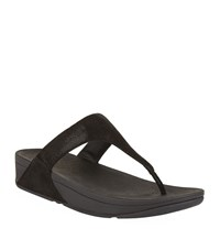 Fitflop Shimmy Suede Toe Post Sandals Female Black