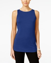 Inc International Concepts Boat Neck Tank Top Only At Macy's Goddess Blue