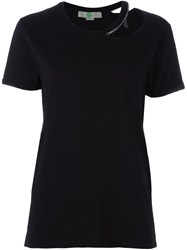Stella Mccartney 'Falabella' Cut Out Detail Top Black
