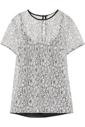 Michael Michael Kors Corded Lace Top White