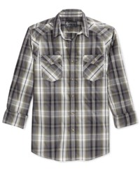 American Rag Men's Plaid Long Sleeve Shirt Only At Macy's Dusty Olive