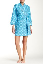 Bedhead Turquoise Ashton Road Flannel Robe Blue