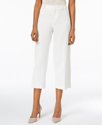 Charter Club Solid Polished Wide Leg Crop Only At Macy's Vintage Cream