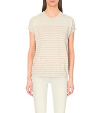 Allsaints Dory Knitted Top Porc Wht Sndst