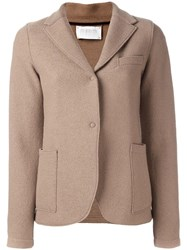 Harris Wharf London Single Breasted Fitted Jacket Nude Neutrals