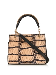 Max Mara Leda Snakeskin And Leather Cross Body Bag