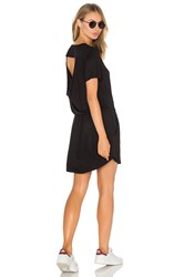 Chaser Drape Back Pocket Mini Dress Black