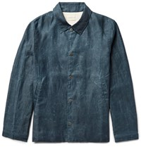 Simon Miller Distressed Cotton Coach Jacket Petrol