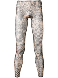Dsquared2 Printed Leggings Black