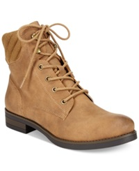 American Rag Swidler Lace Up Booties Women's Shoes Tan