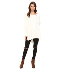 Culture Phit Cheyenne One Pocket Sweater Off White Women's Sweater