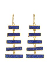 Pippa Small Gold Plated Silver Earrings With Lapis Gr. One Size
