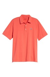 Patagonia 'Trout Fitz Roy' Organic Cotton Polo Spiced Coral