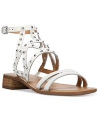 Franco Sarto Alyssa Studded Sandals Women's Shoes White