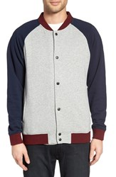 Z.A.K. Brand Men's Colorblock Knit Baseball Jacket