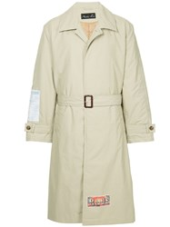 Martine Rose Back Print Single Breasted Coat Nude And Neutrals