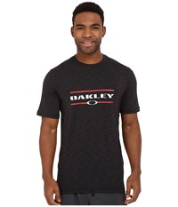 Oakley Melange Short Sleeve Rashguard Jet Black Men's T Shirt
