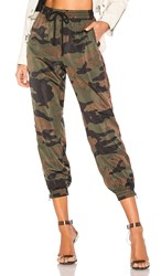 Pam And Gela Camo Track Pant In Brown. Army