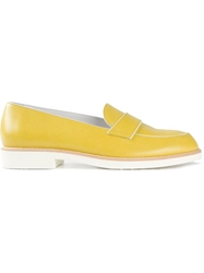 Tod's Piped Band Loafers Yellow And Orange
