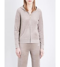 Juicy Couture Crystal Embellished Velour Hoody Dried Thyme