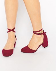 Asos Sighting Heels Oxblood Red