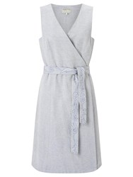 People Tree Lena Wrap Dress Grey