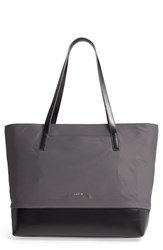 Lodis Kate Fabia Under Lock And Key Nylon And Leather Tote Grey