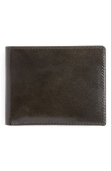 Men's Johnston And Murphy Slimfold Leather Wallet Grey Charcoal