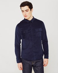 The Idle Man Double Pocket Shirt Navy