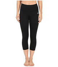 Adidas Performer High Rise 3 4 Tights Black Matte Silver Women's Casual Pants