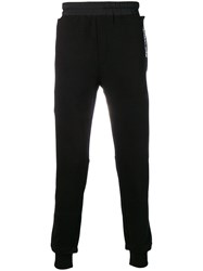 Les Benjamins Embroidered Logo Track Pants Black