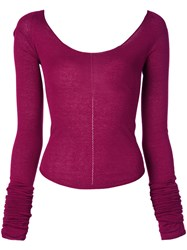 Christophe Lemaire Lightweight Knit Top Purple