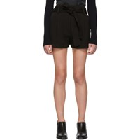 3.1 Phillip Lim Black High Waisted Twill Shorts