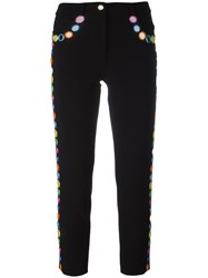Moschino Mirror Embellished Trousers Black