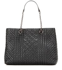 Bottega Veneta Intrecciato Leather Tote Black